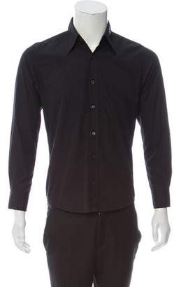 Dries Van Noten Solid Long Sleeve Button-up