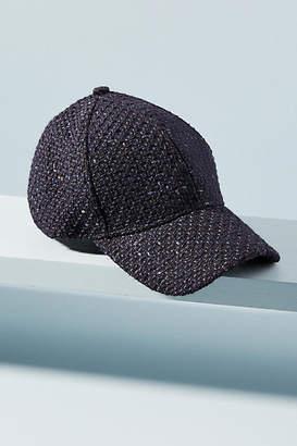 Anthropologie Metallic Tweed Baseball Cap