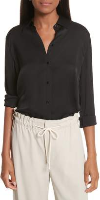 Vince Slim Silk Blouse