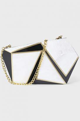 Rafe New York Azura Asymmetric Minaudiere Clutch