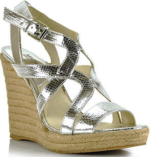 Michael by Michael Kors - Palm Beach - Silver Wedge Espadrille Sandal