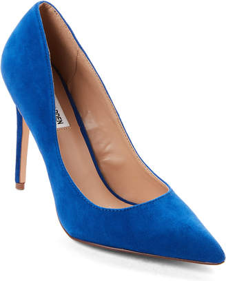 Steve Madden Poet Blue Suede Pointed Toe Pumps