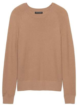Banana Republic Petite Italian Merino Blend Raglan Sweater
