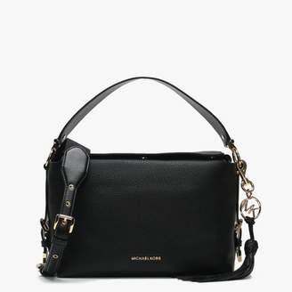 9dc3c23c0bb7 Michael Kors Medium Brooke Black Leather Satchel Bag