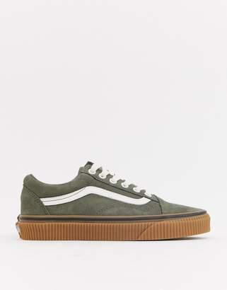 942130737ec Vans Old Skool suede and gum kahki trainers
