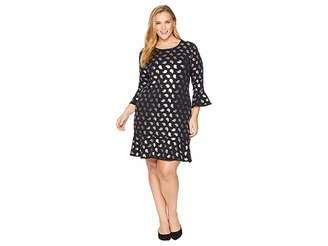 MICHAEL Michael Kors Size Paisley Foil Flounce Dress