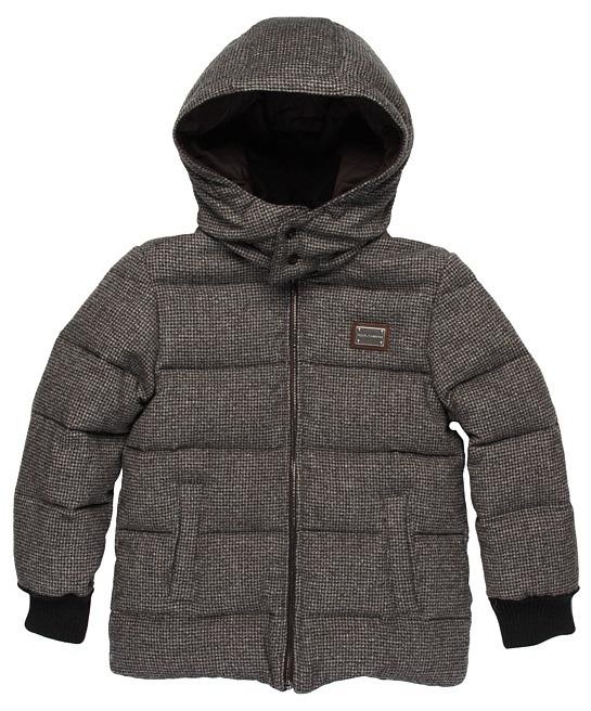 Dolce & Gabbana Reversible Jacket (Toddler/Little Kids/Big Kids) (Dark Grey) - Apparel