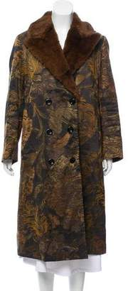 Dries Van Noten Mink-Trimmed Long Coat