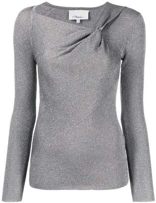 3.1 Phillip Lim metallic fitted knitted top