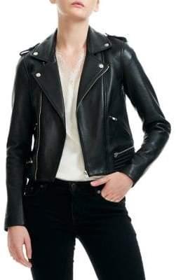 Maje Basalt Leather Jacket