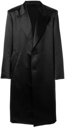 Raf Simons notched lapel coat