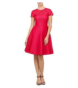 Ted Baker Carniva Fit And Flare Mesh Dress