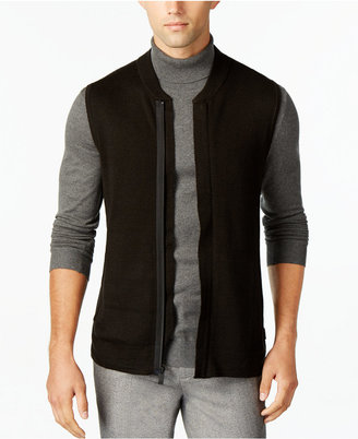Calvin Klein Men's Zip-Front Sweater Vest $89.50 thestylecure.com
