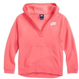 Nike V-Neck Pullover Hoodie