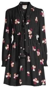Kate Spade Glitzy Ritzy Dusk Buds Print Mini Dress