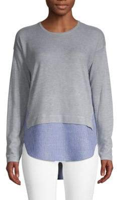 Design History Mixed-Media Roundneck Sweater