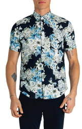Good Man Brand Slim Fit Pacific Floral Print Sport Shirt