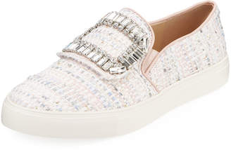 Karl Lagerfeld Paris Ermine Boucle Skate Sneakers with Embellishment