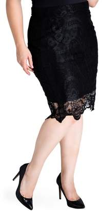 Standards & Practices Emily Lace Pencil Skirt
