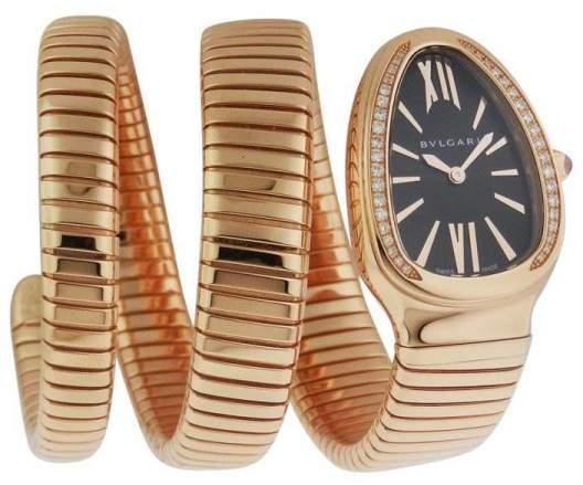 Bvlgari Bulgari Serpenti SPP35BGDG-2T 18Kt Diamond Pink Gold Watch