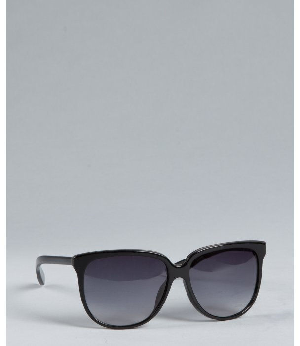 Bottega Veneta black silver dot oversize sunglasses