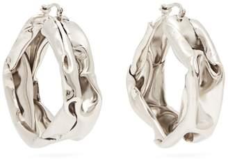 Jil Sander Hammered sterling-silver hoop earrings