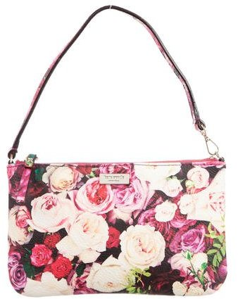 Kate Spade Kate Spade New York Rose Print Wellesley Linet Wristlet