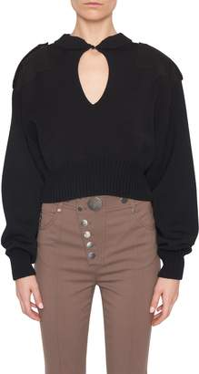 Alexander Wang Patched Cropped Sweater