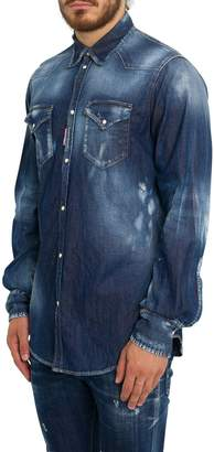 DSQUARED2 Western-style Denim Shirt