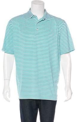 Peter Millar Striped Short Sleeve Polo Shirt