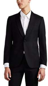 Brooklyn Tailors BROOKLYN TAILORS MEN'S BKT50 WOOL ONE-BUTTON SPORTCOAT