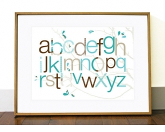 Pin It Olli And Lime Art Poster - Egg In Teal