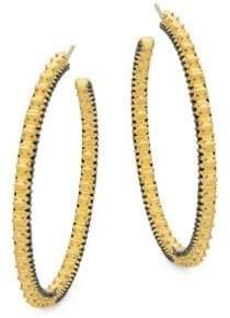 Freida Rothman Spiked Hoop Earrings