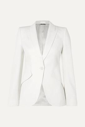 Alexander McQueen Grain De Poudre Blazer - White
