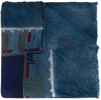 Avant Toi belt print scarf