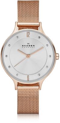 Skagen Anita Rose Goldtone Stainless Steel Women's Watch w/Mesh Bracelet Band $225 thestylecure.com