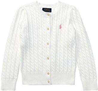 Polo Ralph Lauren Cable Knit Cotton Cardigan (Little Kids)