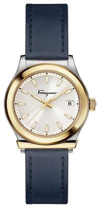 Salvatore Ferragamo 1898 Leather Strap Watch, 28mm
