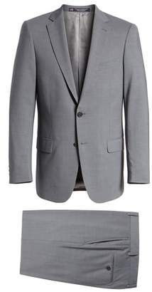 Hart Schaffner Marx Classic Fit Solid Stretch Wool Suit