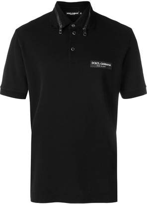 Dolce & Gabbana zip collar polo shirt