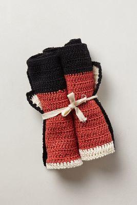 Anthropologie Lussi Crocheted Dishcloths