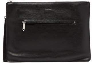 Paul Smith Textured Leather Document Case - Mens - Black