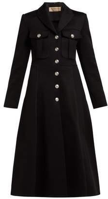 Burberry Beaumaris Bonded Cotton Blend Coat - Womens - Black