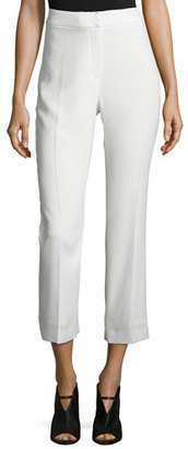 Elie Tahari Harper High-Rise Cropped Pants, White $268 thestylecure.com