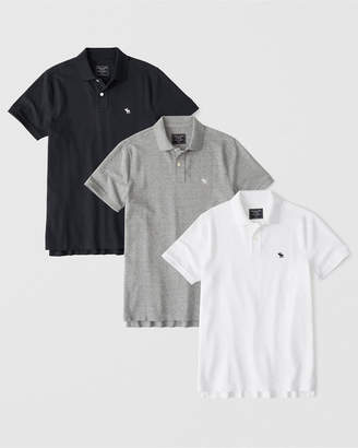 Abercrombie & Fitch 3-Pack Stretch Polo