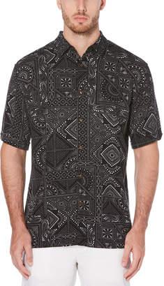 Cubavera Big & Tall Tile Print Shirt