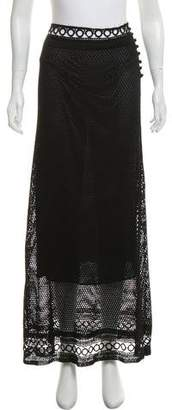 Philosophy di Alberta Ferretti Crochet Maxi Skirt