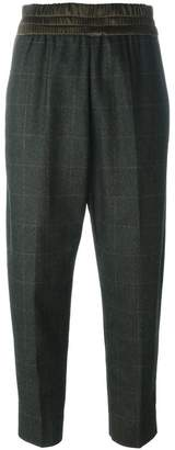 Antonio Marras plaid tapered cropped trousers