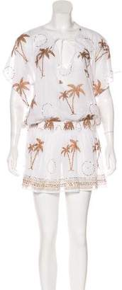 Juliet Dunn Semi-Sheer Mini Dress w/ Tags