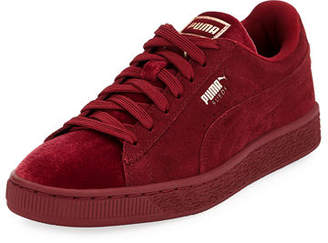 Puma Classic Suede and Velvet Sneakers